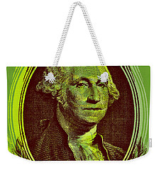 Weekender Tote Bag featuring the digital art George Washington - $1 Bill by Jean luc Comperat