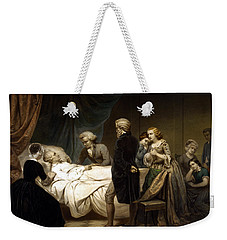 George Washington On His Deathbed Weekender Tote Bag by War Is Hell Store