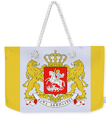 Weekender Tote Bag featuring the drawing Georgia Coat Of Arms by Movie Poster Prints