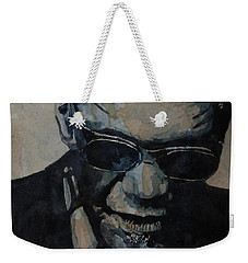 Georgia On My Mind - Ray Charles  Weekender Tote Bag by Paul Lovering