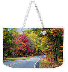 Weekender Tote Bag featuring the photograph Georgia Scenic Byway by Barbara Bowen