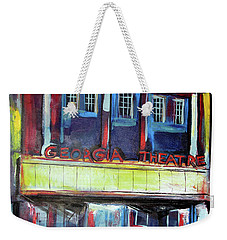 Weekender Tote Bag featuring the painting Georgia Theatre by John Jr Gholson