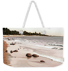 Georgian Bay Beach Weekender Tote Bag by Kenneth M  Kirsch