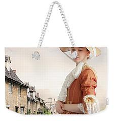Georgian Period Woman Weekender Tote Bag by Lee Avison