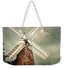 Weekender Tote Bag featuring the photograph Georgian Stone Windmill  by Jorgo Photography - Wall Art Gallery