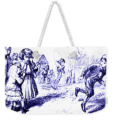 Georgy Porgy Mother Goose Illustrated Nursery Rhyme Weekender Tote Bag
