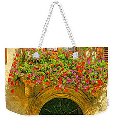 Gerani Coloriti Weekender Tote Bag by Dominic Piperata