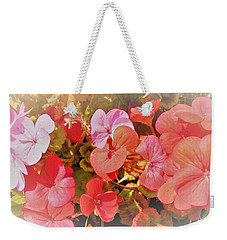 Geranium Weekender Tote Bag by Ann Johndro-Collins