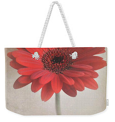 Weekender Tote Bag featuring the photograph Gerbera Daisy by Lyn Randle