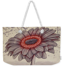 Weekender Tote Bag featuring the painting Gerbera Flower Gone Grey by Kelly Mills