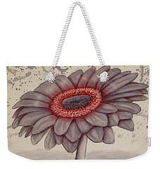 Gerbera Flower Gone Grey Weekender Tote Bag by Kelly Mills