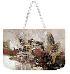 Weekender Tote Bag featuring the mixed media Gerberie - 152s by Variance Collections