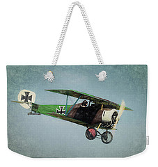 Weekender Tote Bag featuring the photograph German Fighter by James Barber