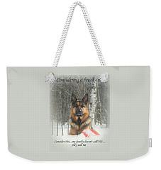 German Shepherd 911 Weekender Tote Bag