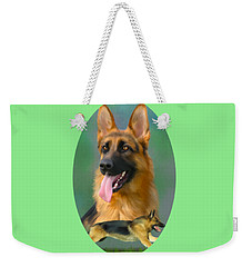 German Shepherd Breed Art Weekender Tote Bag