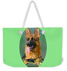 German Shepherd Breed Art Weekender Tote Bag