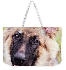 German Shepherd Dog Weekender Tote Bag by Stephanie Frey