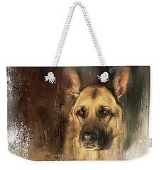 German Shepherd Portrait Color Weekender Tote Bag by Eleanor Abramson