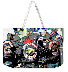 Germany Trial Hell Angels Motorcycle Club Weekender Tote Bag