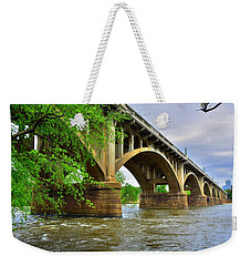 Weekender Tote Bag featuring the photograph Gervais Street Bridge by Lisa Wooten