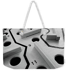 Weekender Tote Bag featuring the photograph Get Me To The Finish by Robert Knight
