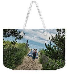 Weekender Tote Bag featuring the photograph Get To The Beach by T Brian Jones
