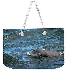 Weekender Tote Bag featuring the photograph Getting Air by Steven Santamour