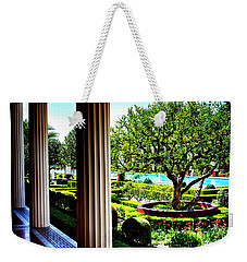 Weekender Tote Bag featuring the photograph Getty Villa Peristyle Garden by Joseph Hollingsworth