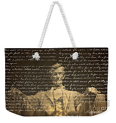 Gettysburg Address Weekender Tote Bag by Diane Diederich
