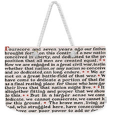 Gettysburg Address Weekender Tote Bag by International  Images