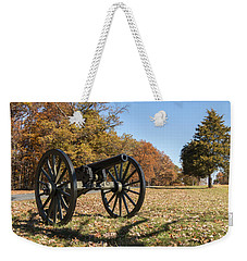 Gettysburg - Cannon In East Cavalry Battlefield Weekender Tote Bag