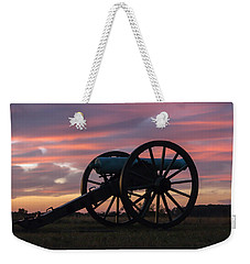 Gettysburg - Cannon On Cemetery Ridge At First Light Weekender Tote Bag