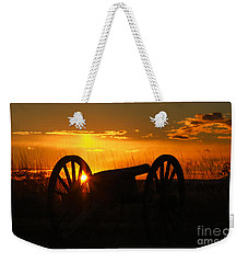 Gettysburg Cannon Sunset Weekender Tote Bag