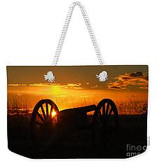 Gettysburg Cannon Sunset Weekender Tote Bag by Randy Steele