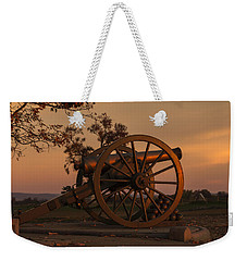 Gettysburg - Cannon With Cannon Balls At Sunrise Weekender Tote Bag