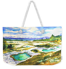 Geyser Basin, Yellowstone Weekender Tote Bag