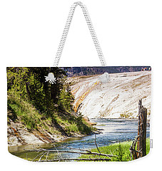 Geyser Stream Weekender Tote Bag by Dawn Romine
