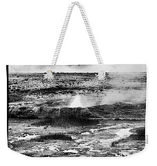 Geysers Of Yellowstone Weekender Tote Bag by Hugh Smith