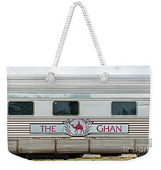 Ghan Train At Alice Springs Weekender Tote Bag
