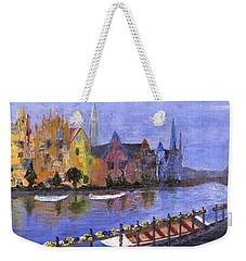 Weekender Tote Bag featuring the painting Ghent by Jamie Frier