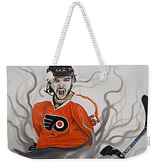 Weekender Tote Bag featuring the painting Ghost Bear by Kevin F Heuman