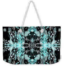 Weekender Tote Bag featuring the digital art Ghost Flake Inverted by Reed Novotny