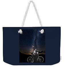 Ghost Rider Under The Milky Way. Weekender Tote Bag