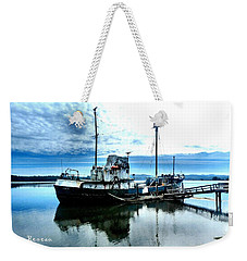 Weekender Tote Bag featuring the photograph Ghost Ship Trawler - 2 by Sadie Reneau