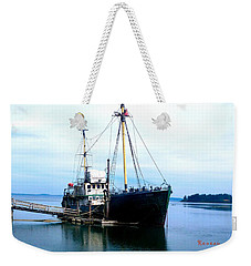 Weekender Tote Bag featuring the photograph Ghost Ship - Trawler by Sadie Reneau