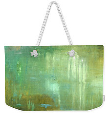 Weekender Tote Bag featuring the painting Ghosts In The Water by Michal Mitak Mahgerefteh