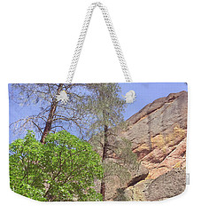 Weekender Tote Bag featuring the photograph Giant Boulders by Art Block Collections