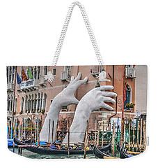 Giant Hands Venice Italy Weekender Tote Bag