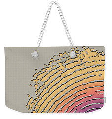 Giant Iridescent Fingerprint On Beige Weekender Tote Bag