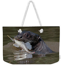 Giant Otter #1 Weekender Tote Bag by Wade Aiken